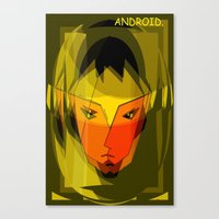 android Canvas Prints featuring ANDROID. by capricorn