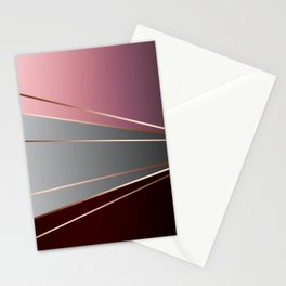 Pink, brown, grey, Golden Stationery Cards