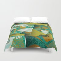planes Duvet Covers featuring Planes by DARWIN STEAD