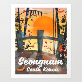 Seongnam South Korea Art Print