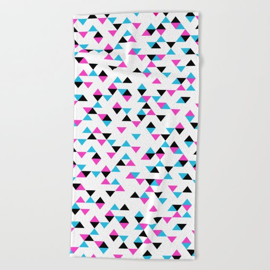 Electric Triangles Beach Towel