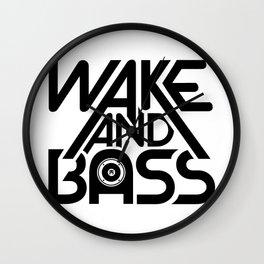 Wake And Bass (Black) Wall Clock