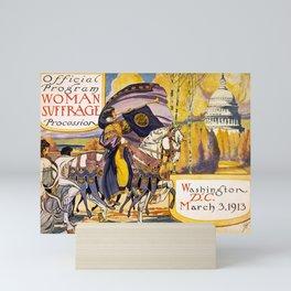 Women's March On Washington, Votes For Women, Women's Suffrage Mini Art Print