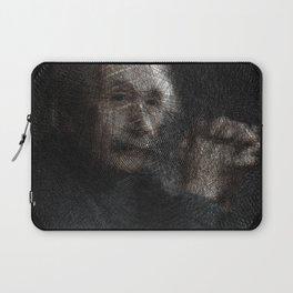 Albert Einstein, a String Art Portrait Laptop Sleeve