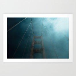 Trippy Trip Under The Golden Gate Bridge Art Print
