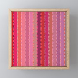 Multi-faceted decorative lines Framed Mini Art Print