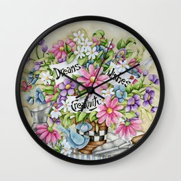 Dreams Wishes And Creativity Wall Clock