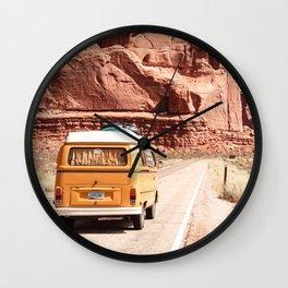 Desert Road Trip Wall Clock