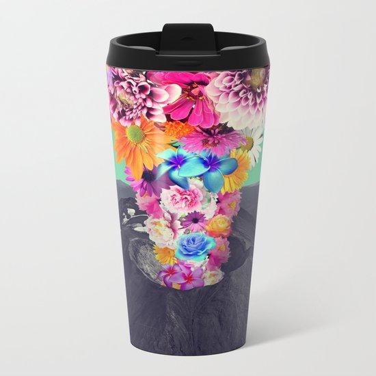 Volcano flower Metal Travel Mug