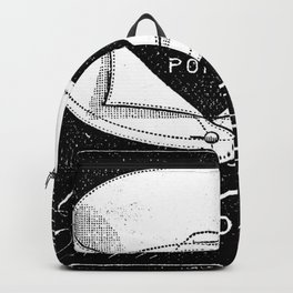 black and white vintage shirt collar retro laundry room Backpack
