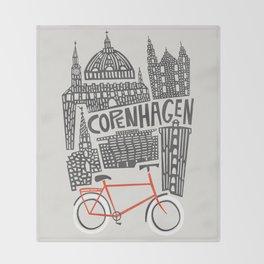 Copenhagen Cityscape Throw Blanket