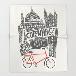 Copenhagen Cityscape Throw Blanket