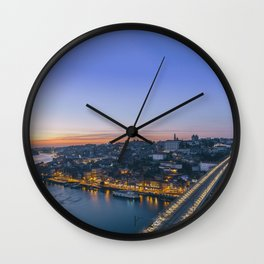 Porto from Serra do Pilar. Wall Clock