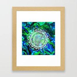 Lucid Liquid Acacia Aquamarine Framed Art Print