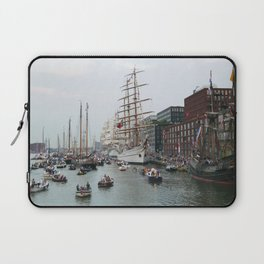 Tall ships in Amsterdam's Harbour Laptop Sleeve