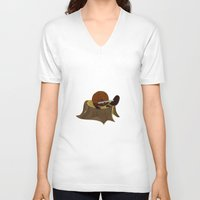 beaver V-neck T-shirts featuring Beaver by Studio Ria