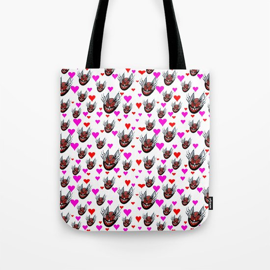 Sneaky Cat Face Tote Bag