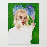 sky ferreira Canvas Prints featuring SKY FERREIRA PLUS PLANTS by Jethro Lacson