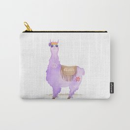 Hippie Llama Carry-All Pouch