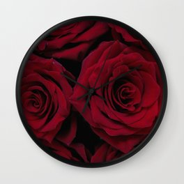 Ruby Roses Wall Clock