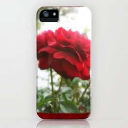 Red Rose with Light 1 Blank P5F0 iPhone Case