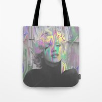 monroe Tote Bags featuring Monroe by Cale potts Art