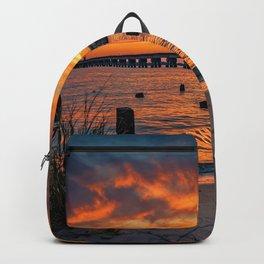Railroad Bridge Sunset Backpack