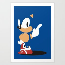 Minimal Sonic Art Print