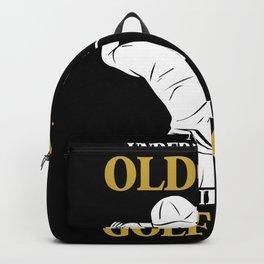 Golf club golf clubs golfer Backpack