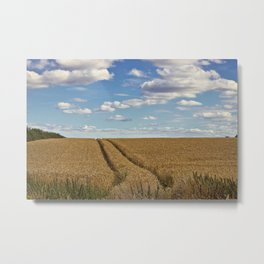 In Golden Fields Metal Print