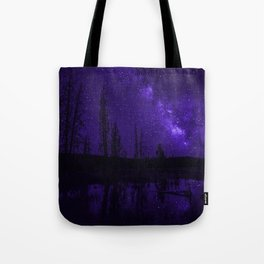 Milky Way Over Fire Hole Lake Tote Bag