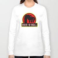rock n roll Long Sleeve T-shirts featuring Rock n Roll lives! by Los Espada Art