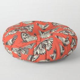 summer butterflies fire Floor Pillow