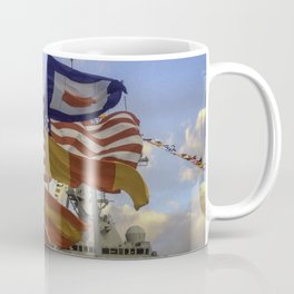 Full Flagged Ship Coffee Mug