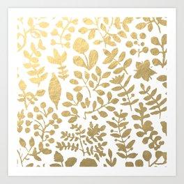 Botanica - gold Art Print