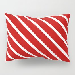 Chilli Diagonal Stripes Pillow Sham