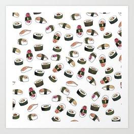 Sushi on White Art Print