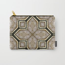 Victorian Art Deco Medieval Pattern gray SB18 Carry-All Pouch