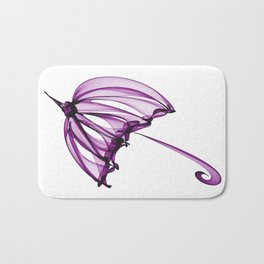 Purple Umbrella Bath Mat