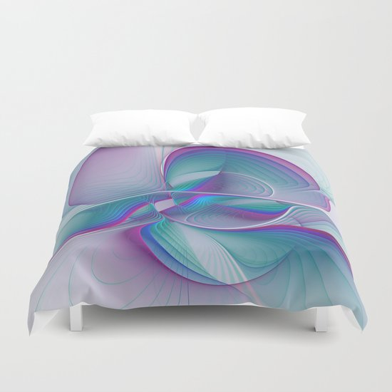 Colorful Beauty, Abstract Fractal Art Duvet Cover