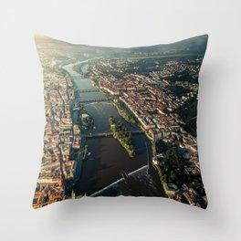 Above Prague, Czech Republic Throw Pillow