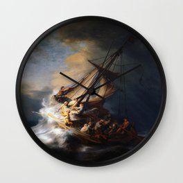 Rembrandt's The Storm on the Sea of Galilee Wall Clock