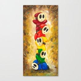 A Rainbow of Shy Guys Canvas Print