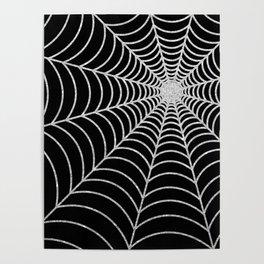 Spiderweb | Silver Glitter Poster