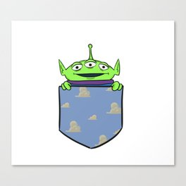 Toy Story Alien Pocket Canvas Print