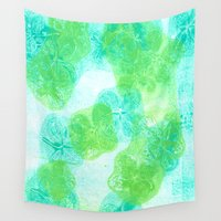 hydrangea Wall Tapestries featuring hydrangea by Kim Codner Designs