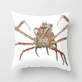 Japanese Giant Spider Crab Arachnida Hooks Claws Ocean Throw Pillow