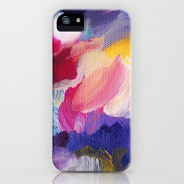 Robbie Abstract Painting iPhone Case