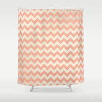 peach Shower Curtains featuring Peach by C Designz