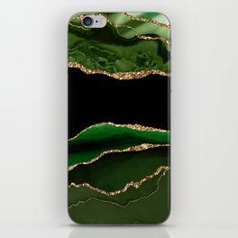 Emerald Marble Glamour Landscapes iPhone Skin